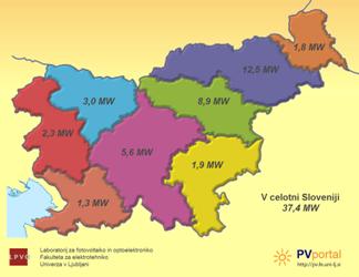 Neenakomerna porazdelitev sončnih elektrarn v Sloveniji